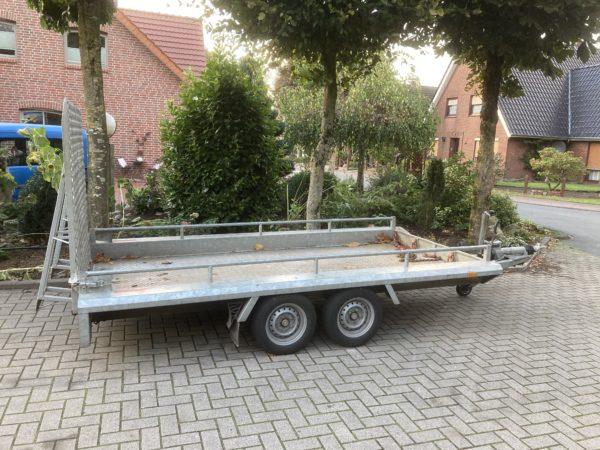 Baumaschinenanhänger 3,5 t ankippbar